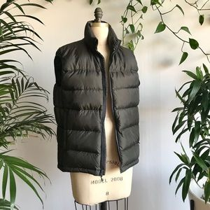 REI forest green puffy vest (medium)